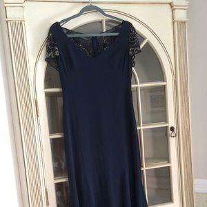 Navy blue Theia evening gown